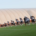 Texas at fall practice. (Will Gallagher/IT)