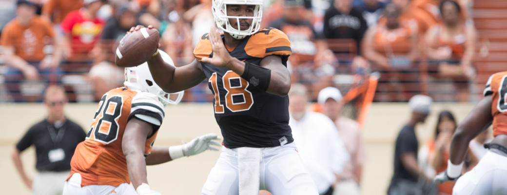 Tyrone Swoopes at the Spring game. (Will Gallagher/IT)