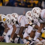 The Texas defense at West Virginia. (Will Gallagher/IT)