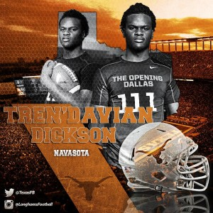 Tren'Davian Dickson. (Courtesy of UT)