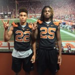 Robert Barnes and Lil Jordan Humphrey during their visit to UT. (courtesy of Barnes family)