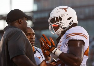 Malik Jefferson with Strong and Jean-Mary. (Will Gallagher/IT)