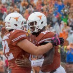 Elijah Rodriguez and Tyrone Swoopes celebrate. (Will Gallagher/IT)