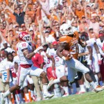 D'Onta Foreman's 81-yard game-changing run vs OU. (Will Gallagher/IT)