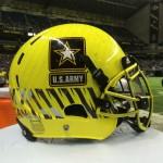 Army All American helmet. (Justin Wells/IT)