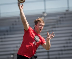 Sam Ehlinger at the Opening Regionals in Houston. (Will Gallagher/IT)