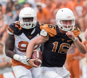 Shane Buechele at the Spring game. (Will Gallagher/IT)