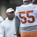 Jordan Elliott and Charlie Strong (Will Gallagher/IT)