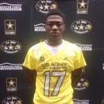 Omar Manning at his Army All American jersey reception. (Justin Wells/IT)