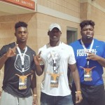 Marvin Wilson, Baron Browning, and Jarell Cherry at TX-ND. (Courtesy of Cherry)