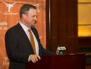 Tom Herman at his introductory press conference (Will Gallagher/IT)