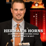 Tom Herman on the cover of IT Magazine. (Will Gallagher/IT)