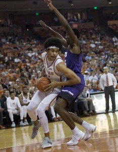 Jarrett Allen taking on Frogs (Will Gallagher/IT)