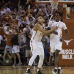 Andrew Jones and Eric Davis celebrating Jones' game winner (Will Gallagher/IT)