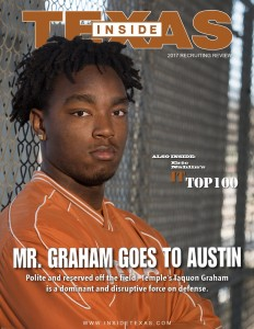 Taquon Graham on the cover of the IT Magazine. (Will Gallagher/IT)