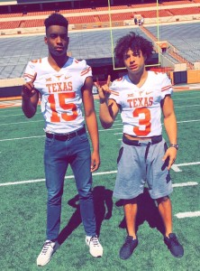 Bralen Taylor and Jordan Whittington. (courtesy of Whittington)