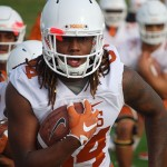 Lil Jordan Humphrey at spring practice. (Joe Cook/IT)