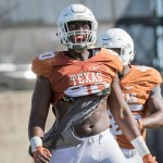 Charles Omenihu during Spring practice. (Will Gallagher/IT)