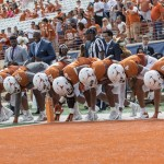 Texas defense during the spring game (Will Gallagher/IT)