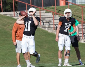 Sam Ehlinger and Shane Buechele (Will Gallagher/IT)