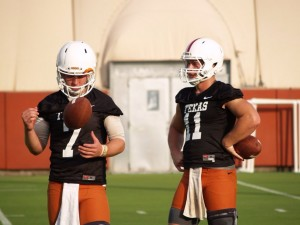 Shane Buechele and Sam Ehlinger (Justin Wells/IT)