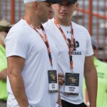 Cam Rising with his father at Texas-OSU. (Will Gallagher/IT)