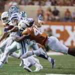 Malik Jefferson taking down Wildcats (Will Gallagher/IT)