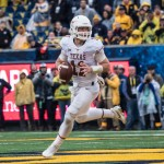 Sam Ehlinger in Morgantown. (Gallagher/IT)