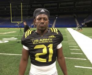 DaShaun White at the Army All American Bowl. (Joe Cook/IT)