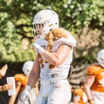 Breckyn Hager during spring practice. (Will Gallagher/IT)