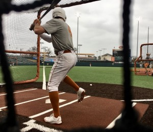Texas baseball during preseason. (Joe Cook/IT)