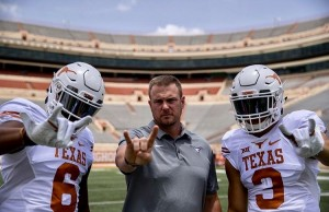 Trey Sanders, Tom Herman, and Jordan Whittington. (courtesy of Whittington)