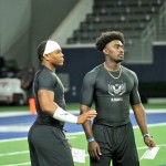 DeGabriel Floyd and Rian Davis at The Opneing in Frisco. (Joe Cook/IT)
