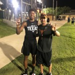 Kennedy Lewis at UT's summer camp in June. (courtesy of Lewis)