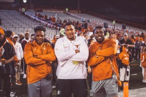 Bryan Carrington, Jacoby Jones, and Gary Johnson. (courtesy of Texas Football)