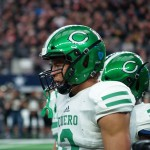 Jordan Whittington in state championship at AT&T Stadium. (Justin Wells/IT)