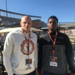 Landon Jackson and Marcus Burris at UT Junior Day Weekend in Austin. (Justin Wells/IT)