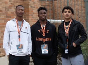 JJ Hester, Sevion Morrison, Myles Slusher at UT's junior day (Will Gallagher/IT)