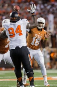 Tyrone Swoopes versus Oklahoma State. (Will Gallagher/IT)