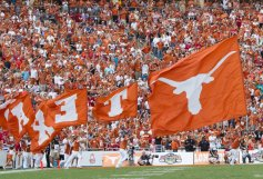 Texas cheer at the Red River Rivalry. (Will Gallagher/IT)