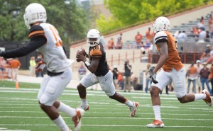 Tyrone Swoopes at the Spring game. (ill Gallagher/IT)