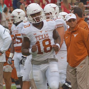 Tyrone Swoopes at Texas-OU. (Justin Wells/IT)