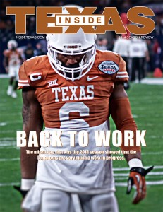 Cover of Inside Texas Magazine. (Justin Wells/IT)