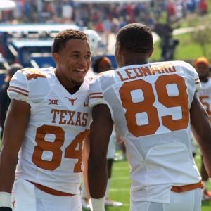 Lorenzo Joe and Dorian Leonard at Kansas. (Justin Wells/IT
