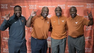Texas coaches - Anthony Johnson, Clay Jennings, and Charlie Williams. (courtesy of Texas officials)