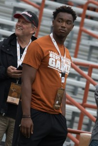 Taquon Graham at the UT Spring Game. (Will Gallagher/IT)