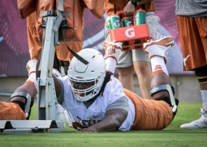 Marcel Southall at UT's practice. (Will Gallagher/IT)