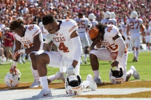 Texas players before the RS. (Will Gallagher/IT)