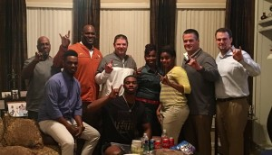 K'Lavon Chaisson during UT's in-home visit. (courtesy of Chaisson)
