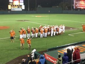 Texas after defeating UCLA 5-2 (Joe Cook/IT)